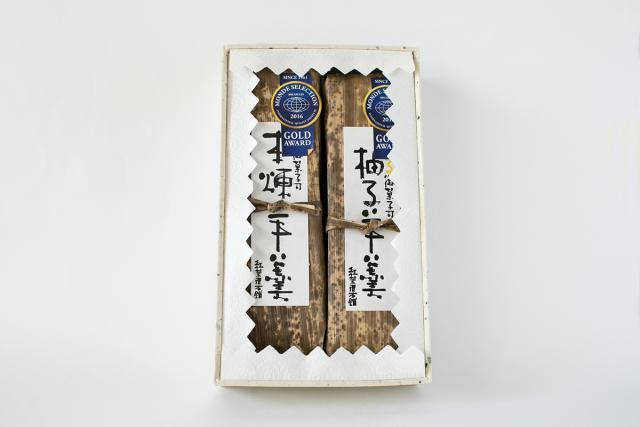 和歌山串本の紅葉屋本舗本煉羊羹と柚子羊羹の画像